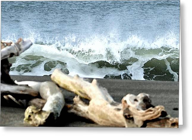 Beach Blast Greeting Card by Michael Bruce
