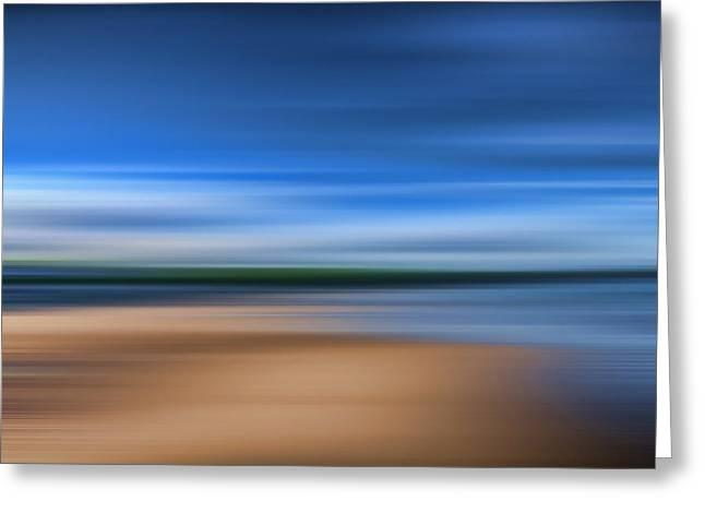Beach Blur Greeting Card by Steve Purnell