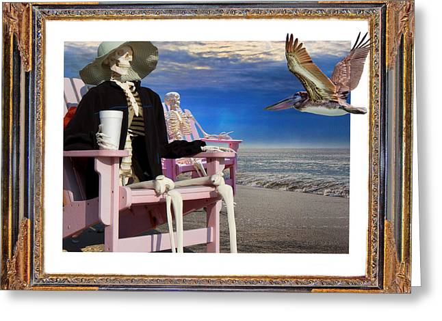 Beach Bones Greeting Card
