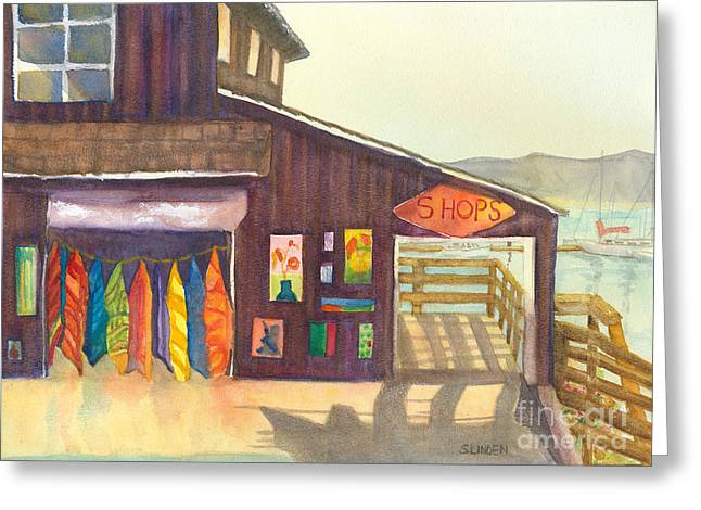 Greeting Card featuring the painting Beach Boutique by Sandy Linden