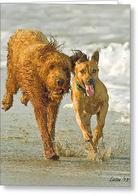 Beach Buddies Greeting Card by Larry Linton