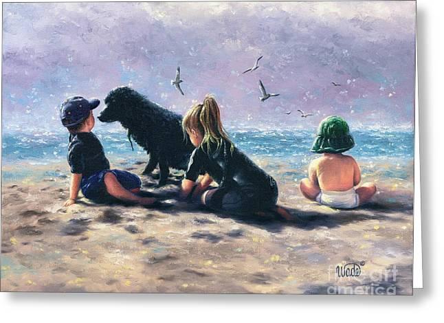 Beach Buddies Greeting Card by Vickie Wade