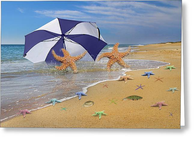Beach Bums Greeting Card by Betsy Knapp