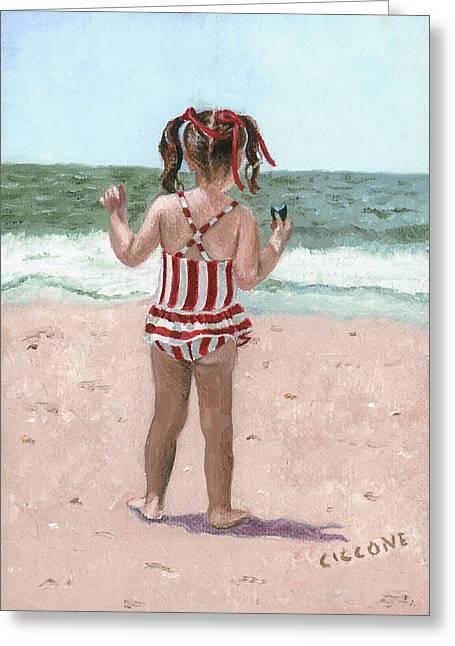 Beach Buns Greeting Card