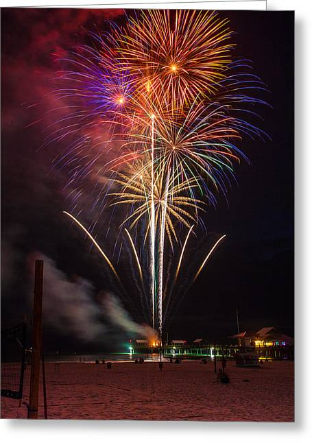 Beach Bursts Greeting Card by Jeff Donald