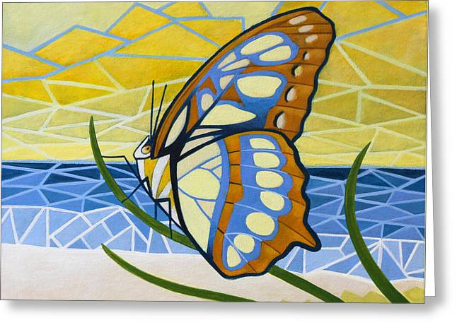 Beach Butterfly Greeting Card by Nathan Miller