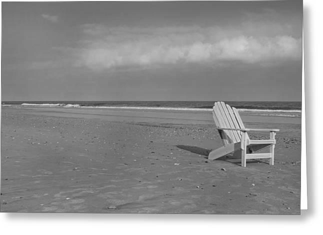 Beach Chair Greeting Card by Betsy Knapp
