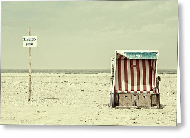 Beach Chair Border Greeting Card
