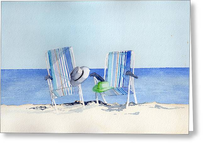 Beach Chairs Greeting Card