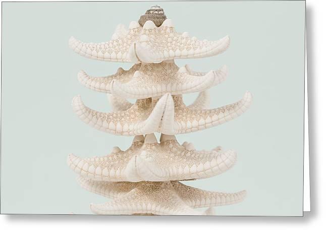 Beach Christmas Tree Greeting Card by Lucid Mood