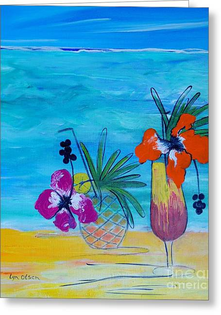 Beach Cocktails Greeting Card