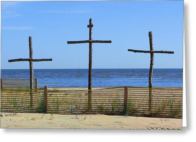 Beach Crosses Greeting Card