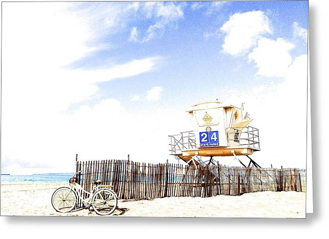 Greeting Card featuring the photograph Beach Cruiser by Margie Amberge