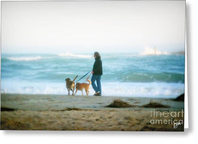 Greeting Card featuring the photograph Beach Dogs by Phil Mancuso