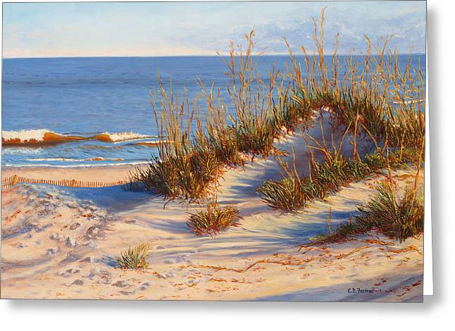 Beach Dune, Atlantic Ocean Beach Greeting Card by Elaine Farmer