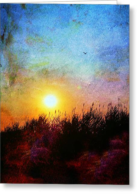 Beach Dune Greeting Card by Laura Fasulo