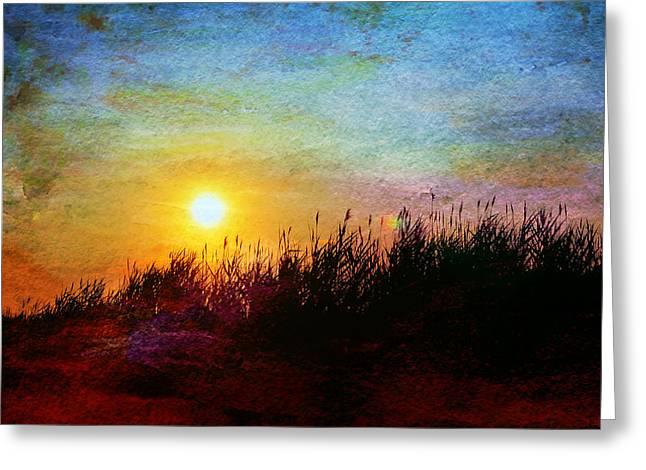 Beach Dune Sunset Greeting Card