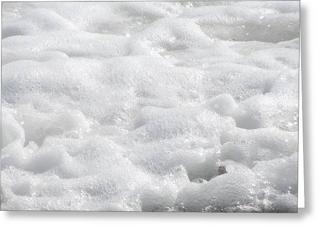 Greeting Card featuring the photograph Beach Foam by Cathy Lindsey