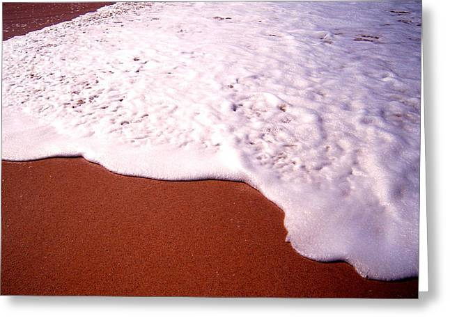 Beach Foam Greeting Card