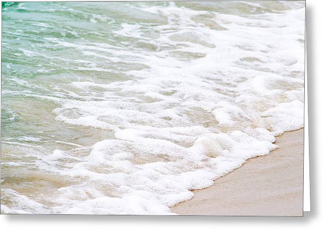Beach Foam Greeting Card by Shelby  Young