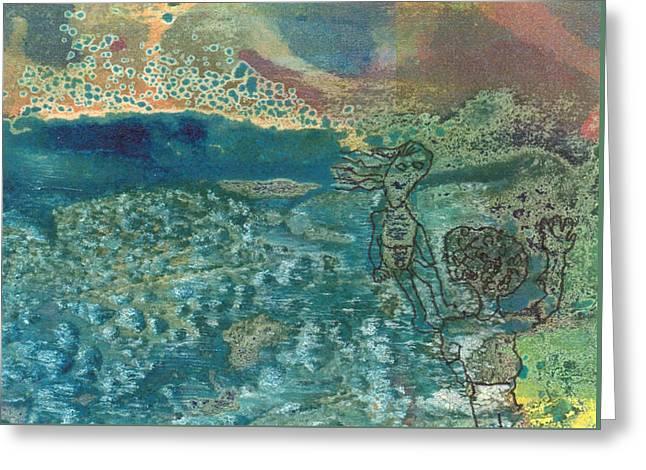 Beach Friends Flotsam And Jetsam Greeting Card by Catherine Redmayne