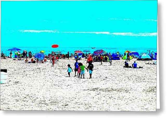 Beach Fun Frisbee Greeting Card