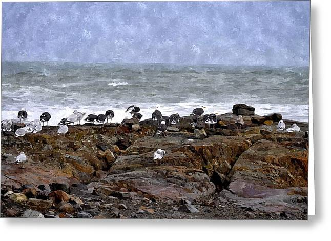 Beach Goers Bgwc Greeting Card