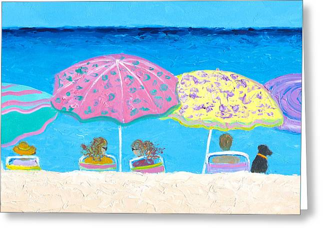 Beach Gossip Greeting Card