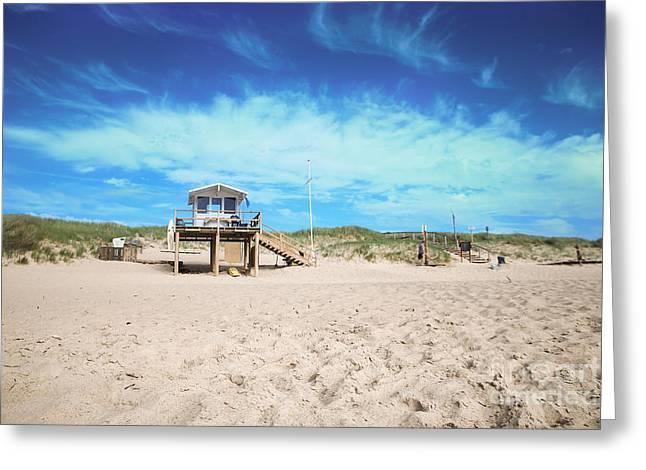 Beach Guard - Sylt Greeting Card by Hannes Cmarits