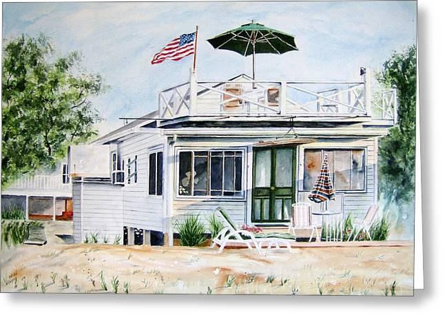 Beach House Greeting Card by Brian Degnon