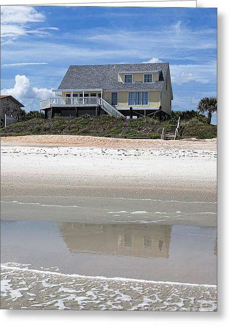 Beach House Greeting Card by Kay Pickens