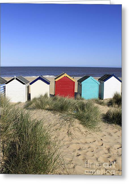 Southwold Beach Huts Uk Greeting Card