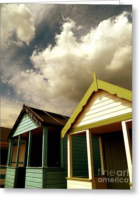 Greeting Card featuring the photograph Beach Huts by Vicki Spindler