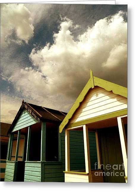 Beach Huts Greeting Card by Vicki Spindler