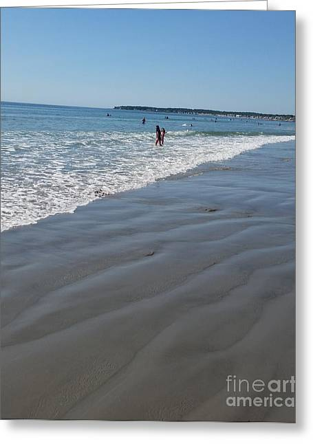 Greeting Card featuring the photograph beach in Maine by Rose Wang