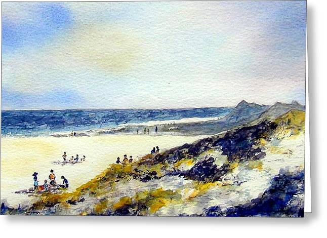 Beach In Norfolk Greeting Card by Roy Hyslop