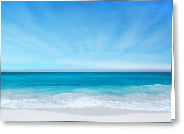 Beach In The Morning Greeting Card