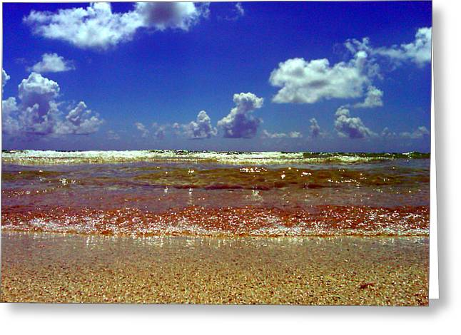 Beach Greeting Card by J Anthony