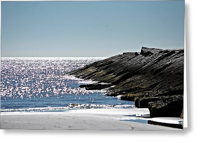 Greeting Card featuring the photograph Beach Jetty by John Collins