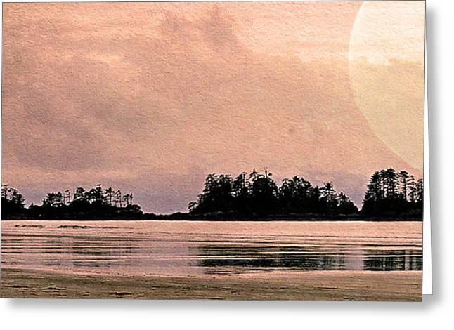 Beach Light Goodnight Greeting Card by Kathy Bassett