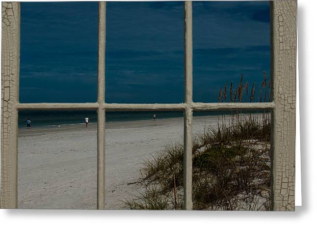 Greeting Card featuring the photograph Beach Lookout by Randy Sylvia