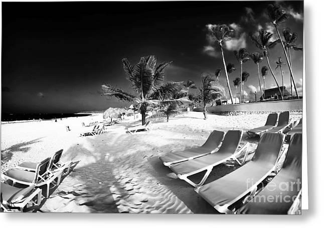 Beach Lounging Greeting Card by John Rizzuto