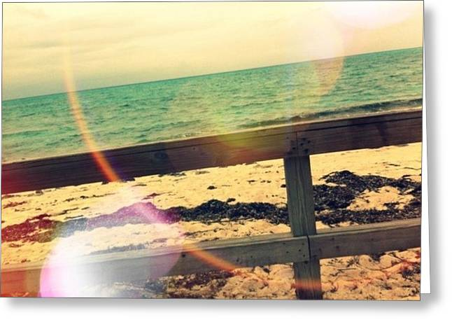 Beach Greeting Card by Michael Le