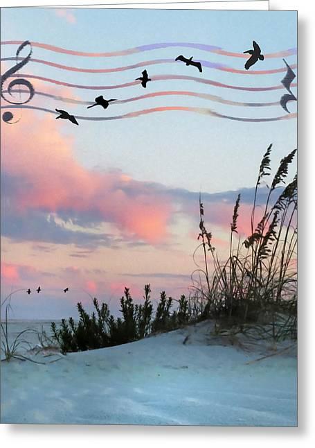 Beach Music Greeting Card