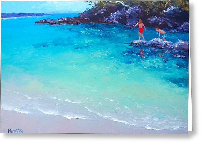Beach Painting - A Day To Remember Greeting Card by Jan Matson