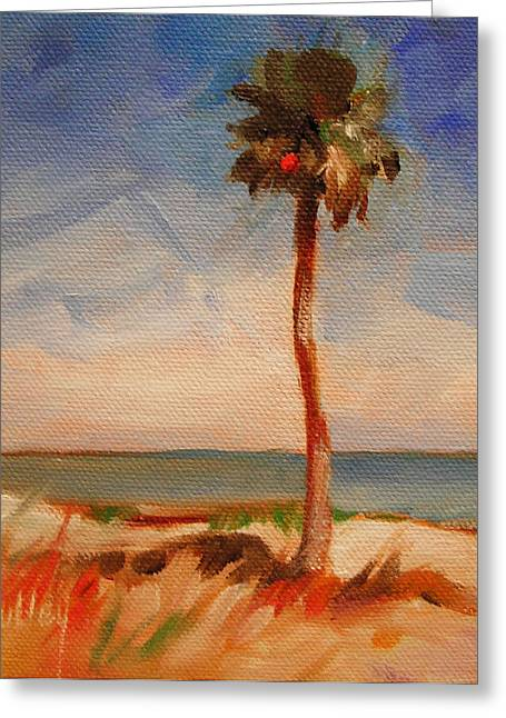 Beach Palm Tree Greeting Card