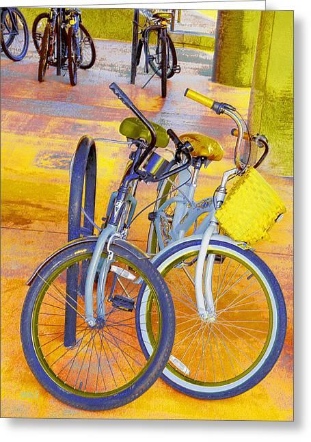 Beach Parking For Bikes Greeting Card