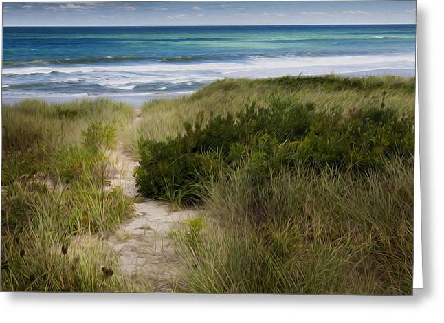 Beach Path Greeting Card by Bill Wakeley