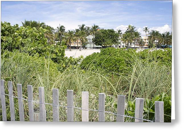Greeting Card featuring the photograph Beach Path by Laurie Perry