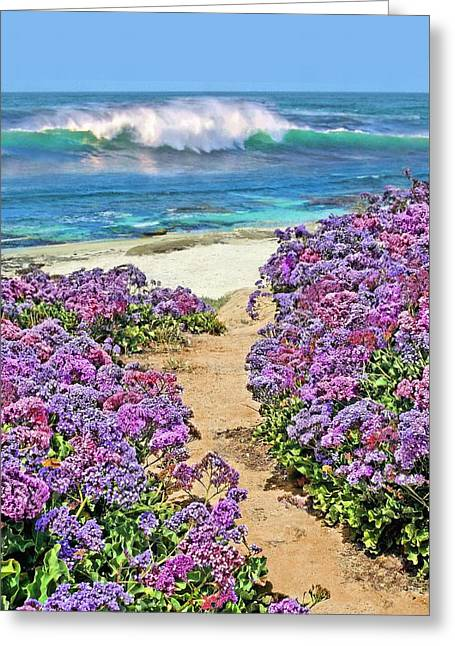Beach Pathway Greeting Card